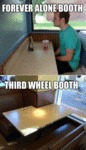 Forever Alone Booth, Third Wheel Booth