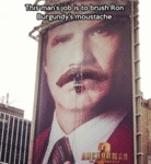 This Man's Job Is To Brush Ron Burgandy's...