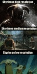 Skyrim On High Resolution...