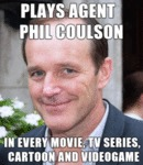 Plays Agent Phil Coulson