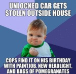 Unlocked Car Gets Stolen Outside House...