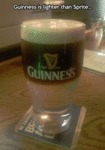 Guinness Is Lighter Than Sprite...