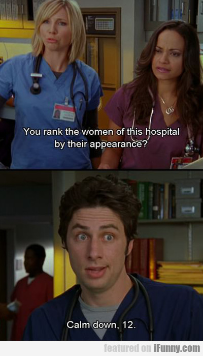 You Rank The Women Of This Hospital By Their...
