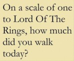 On A Scale Of One To Lord Of The Rings