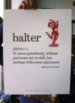 Balter: To Dance Gracelessly...