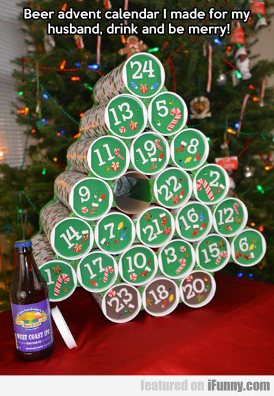 Beer Advent Calendar I Made For My Husband...
