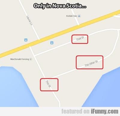 Only In Nova Scotia...