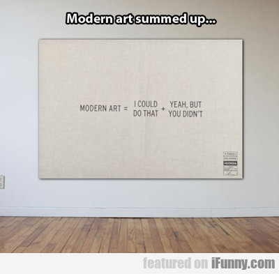 modern art summed up...