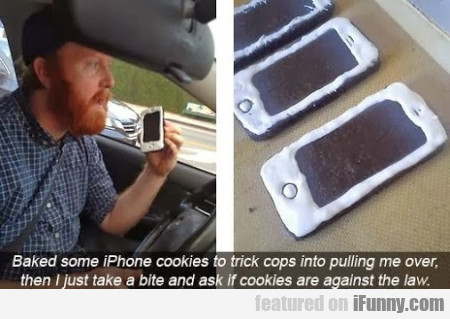 baked some iphone cookies
