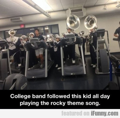 College Band Followed This Kid All Day...