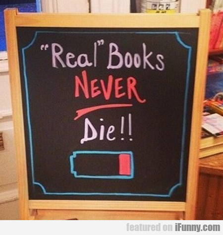 real books never die