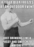 If Your Beer Freezes At An Outdoor Event...