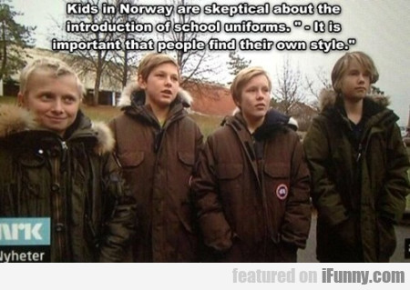 kids in norway are skeptical about