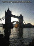 London Bridge Opens For A Rubber Duckie...
