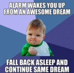 Alarm Wakes You Up From Awesome Dream...