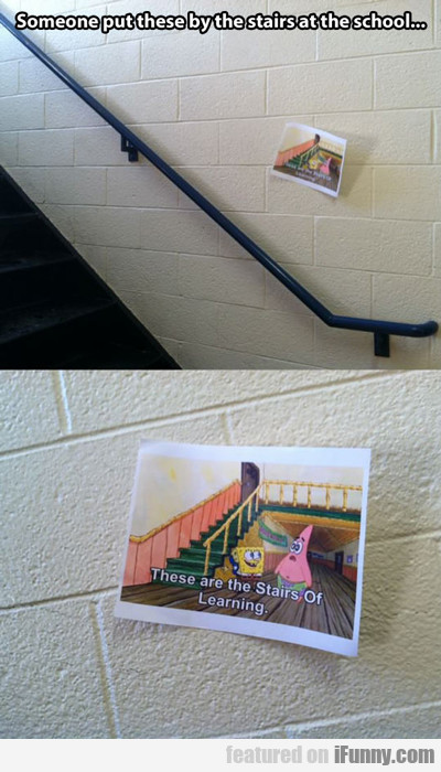 Someone Put These By The Stairs At My School...
