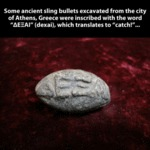 Some Ancient Sling Bullets Excavated...