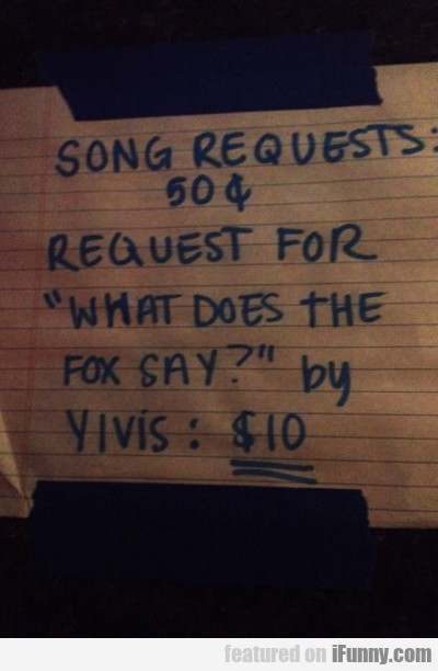 Song Requests 50 Cents, Requests For...
