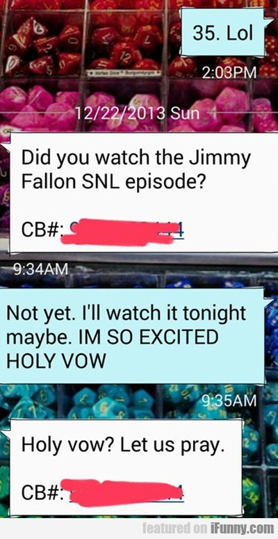 Did You Watch The Jimmy Fallon Snl Episode?
