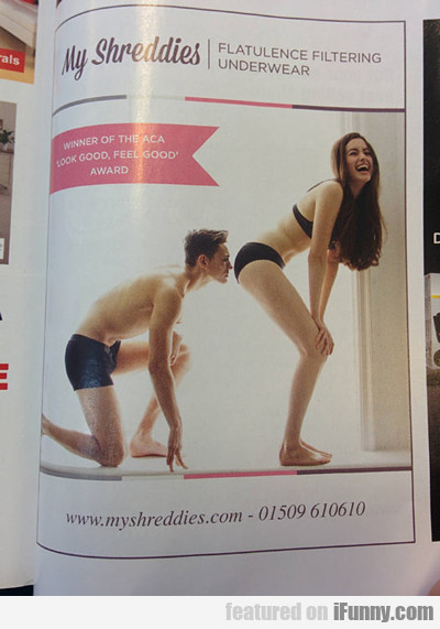 My Shreddies: Flatulence Filtering Underwear...