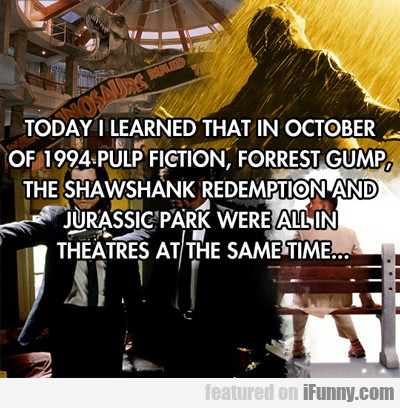 today i learned that in october...