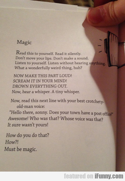 Magic, Read This To Yourself...