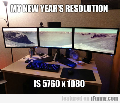 My New Year's Resolution...