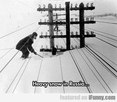 Heavy Snow In Russia...