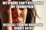 My Iphone Can't Recognize My Thumbprint...