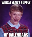 Wins A Year's Supply Of Calendars