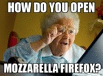 How Do You Open Mozzarella Firefox?