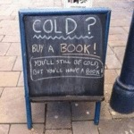 Cold? Buy A Book!