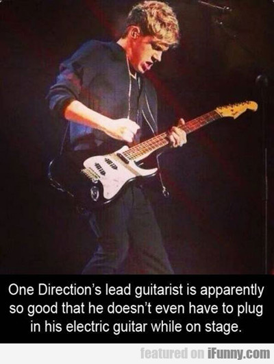One Direction's Lead Guitarist Is Apparently So...