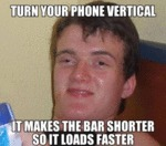 Turn Your Phone Vertical...