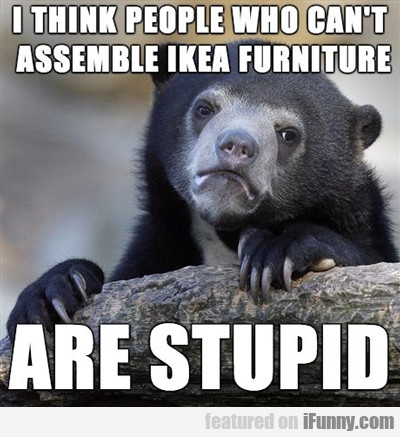 I Think People Who Can't Assemble Ikea...