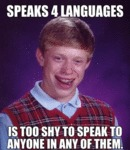Speaks Four Languages...