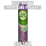 Nice! Now It Smells Like Flowers And Shit