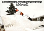 Three Minnesota Boys Build Giant Snow Shark...