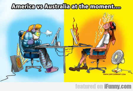 America Vs Australia At The Moment..