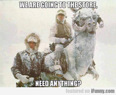 We Are Going To The Store...