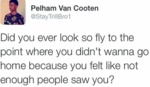Did You Ever Look So Fly To The Point