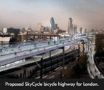 Proposed Skycycle Bicycle Highway For London