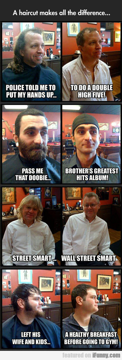 a haircut makes all the difference...