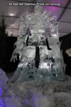 36 Foot Tall Optimus Prime Ice Carving...