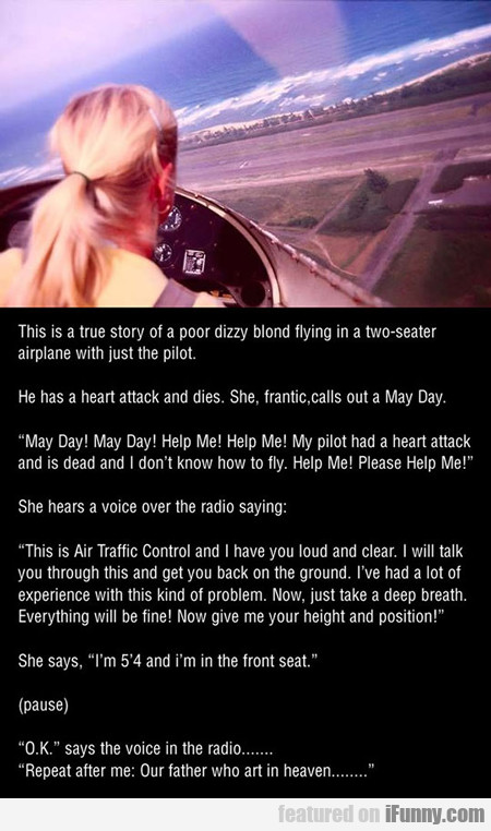 this is the true story of a poor dizzy blond...