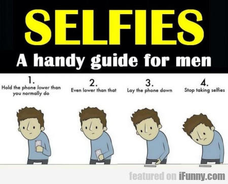 Selfies A Handy Guide For Men