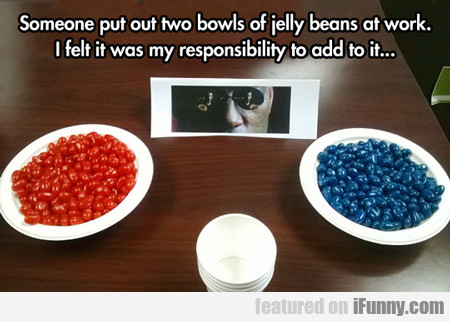 Someone Put Out Two Bowls Of Jellybeans At Work...
