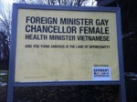 Foreign Minister: Gay, Chancellor: Female...