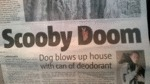Scooby Doom, Dog Blows Up House...