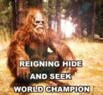 Reigning Hide And Seek World Champion...